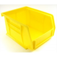 Akrobin 30210 Stackable Storage Bin 5-3/8 x 4-1/8 x3 Yellow Used