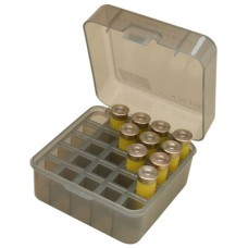 "MTM Case-Gard Flip-Top Shotshell Box 12 or 20 Gauge 2-3/4"" and 3"" 25-Round Smoke"