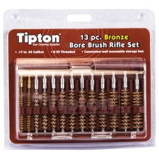 Tipton 13 Piece Bronze Bristle Rifle Bore Brush Set