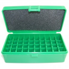 FS Reloading Plastic Ammo Box Large Pistol 50 Round Solid Green