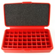 FS Reloading Plastic Ammo Box Automatic Pistol 50 Round Solid Red No Foam
