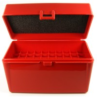 FS Reloading Plastic Ammo Box Large Rifle 50 Round Solid Red