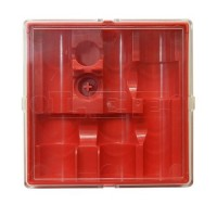 Lee Precision 3-Die Box Flat Red with Lid