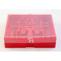 Lee Precision 4-Die Box Flat Red with Lid