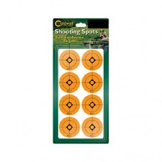 Caldwell 1.5 Orange Shooting Spots, 12 sheets (96 ct)