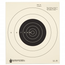 Action Target 25 Yard Slow Fire Bulls-Eye Target, Heavy Tagboard Paper, 10.5