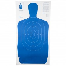 Action Target B-27S Standard Target, Full Size Blue Silhouette, 24