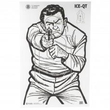 Action Target ICE-QT, Immigration And Customs Enforcement Target, 2009 Version, Ivory/Black, 23