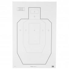 Action Target IPSC-P, Official USPSA/IPSC Practice Target, White/Black, 23