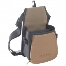 Allen Eliminator Basic Double Compartment Shooting Bag,  Black/Coffee/Copper, Belt Included, Lightweight 8303