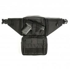 BLACKHAWK Concealed Weapon Fanny Pack, Fits Medium Frame Revolver/Compact Automatic Pistol, Ambidextrous, Black 60WF05BK
