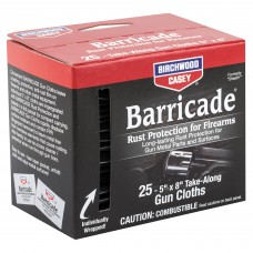 Birchwood Casey Barricade Rust Protection Take-Along Wipes, 25 Wipes BC-33025