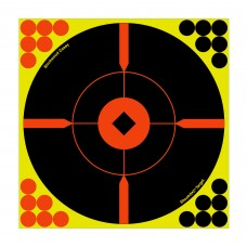 Birchwood Casey Shoot-N-C Target, Round, Crosshair Bullseye, 12