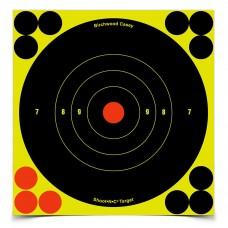 Birchwood Casey Shoot-N-C Target, Round Bullseye, 6