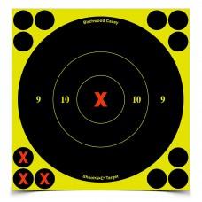 Birchwood Casey Shoot-N-C Target, Round X-Bullseye, 6