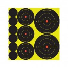 Birchwood Casey Shoot-N-C Target, Round Bullseye, Assortment Kit,72-1