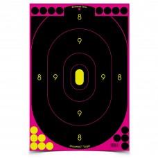 Birchwood Casey Shoot-N-C Target, Silhouette Pink, 12x18, 5 Targets, Pink BC-34635