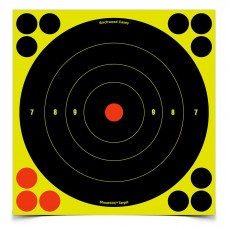 Birchwood Casey Shoot-N-C Target, Round Bullseye, 8
