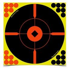 Birchwood Casey Shoot-N-C Target, Round, Crosshair Bullseye, 8