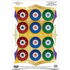 Birchwood Casey Pregame Target, Star Burst, 12x18, 8 Targets BC-35572