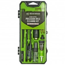Breakthrough Clean Technologies Vision Series, Cleaning Kit, For .25 Cal/6.5MM, Includes Cleaning Rod Sections, Hard Bristle Nylon Brushes, Jags, Patch Holders, Cotton Patches, Durable Aluminum Handle And Mini Bottles of Br