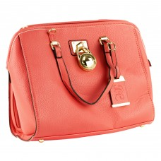 Bulldog Cases Sachel Purse Holster, Fits Most Small Autos, Coral Color, Leather BDP-026
