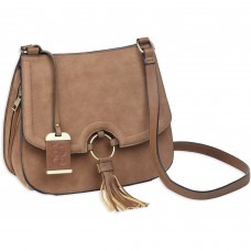 Bulldog Cases Cross Body Purse Holster, Fist Most Small Autos, Camel Brown, Leather BDP-034