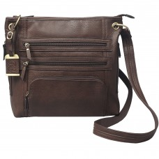 Bulldog Cases Cross Body Purse Holster, Fits Most Small Autos, Brown Color, Leather BDP-039