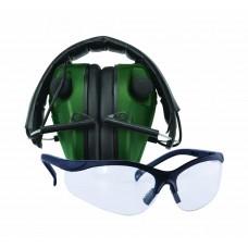 Caldwell E-Max Lo Pro Elec Muff w/Shooting Glasses