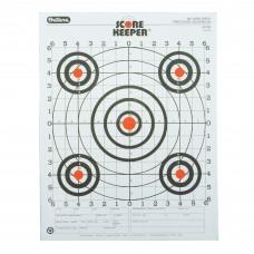 Champion Traps & Targets Orange Bullseye Scorekeeper Target, 100 Yard Rifle Sight-In, 12 Pack 45726