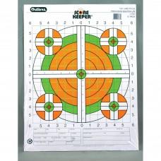 Champion Traps & Targets Fluorescent Orange/Green Bullseye Scorekeeper Target, 100 Yard Rifle Sight-In, 12 Pack 45761