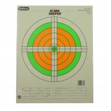 Champion Traps & Targets Fluorescent Orange/Green Bullseye Scorekeeper Target, 100 Yard Small Bore Rifle, 12 Pack 45762