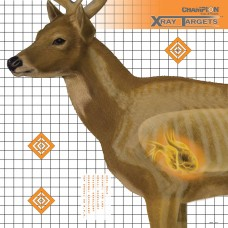 Champion Traps & Targets Deer X-Ray Target, 25x25, 6 Pack 45902