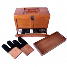 DAC GunMaster Tool Box Maintenance Kit, Universal Gun Cleaning, Wood Box, 17 Pieces TBX736-1