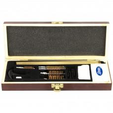 DAC Universal Gun Cleaning Kit, Wood Box, 17 Pieces