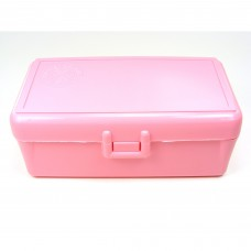 FS Reloading Plastic Ammo Box Medium Pistol 50 Round Solid Pink Scratched