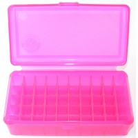 FS Reloading Plastic Ammo Box Large Pistol 50 Round Translucent Pink