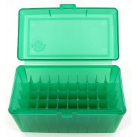 FS Reloading Plastic Ammo Box Large Rifle 50 Round Translucent Green