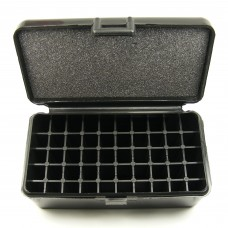 FS Reloading Plastic Ammo Box Medium Pistol 50 Round Solid Black