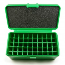 FS Reloading Plastic Ammo Box Medium Pistol 50 Round Solid Green