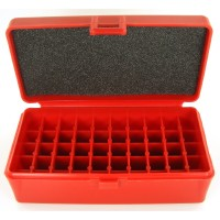FS Reloading Plastic Ammo Box Medium Pistol 50 Round Solid Red