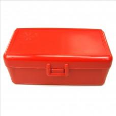 FS Reloading Plastic Ammo Box Medium Pistol 50 Round Solid Red
