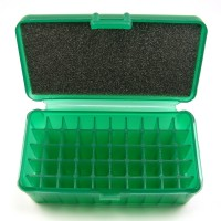 FS Reloading Plastic Ammo Box Medium Pistol 50 Round Translucent Green