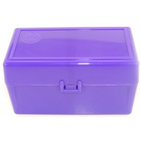 FS Reloading Plastic Ammo Box Medium Rifle 50 Round Solid Purple