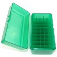 FS Reloading Plastic Ammo Box Medium Rifle 50 Round Translucent Green