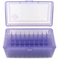 FS Reloading Plastic Ammo Box Medium Rifle 50 Round Translucent Purple