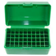 FS Reloading Plastic Ammo Box Small Rifle 50 Round Solid Green