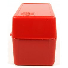 FS Reloading Plastic Ammo Box Small Rifle 50 Round Solid Red