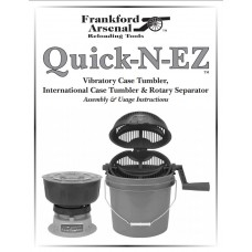 Frankford Arsenal Quick-N-EZ Vibratory Case Tumbler & Kits Master Instructions