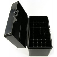 FS Reloading Plastic Ammo Box Large Rifle 50 Round Solid Black